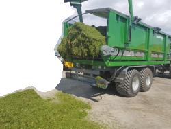 Traktorinė puspriekabė kanapių transportavimui PTL-20K, Laumetris