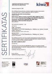 Statybinės plieninės konstrukcijos sertifikatas 1090, Laumetris