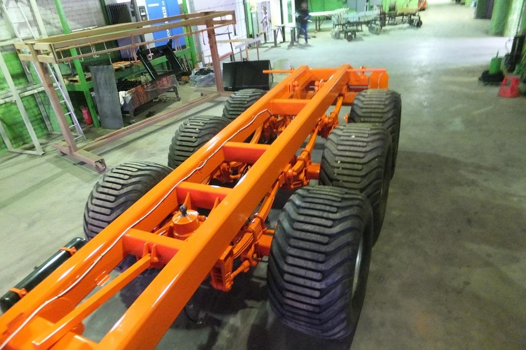 Traktorinė puspriekabės rėmas, Laumetris