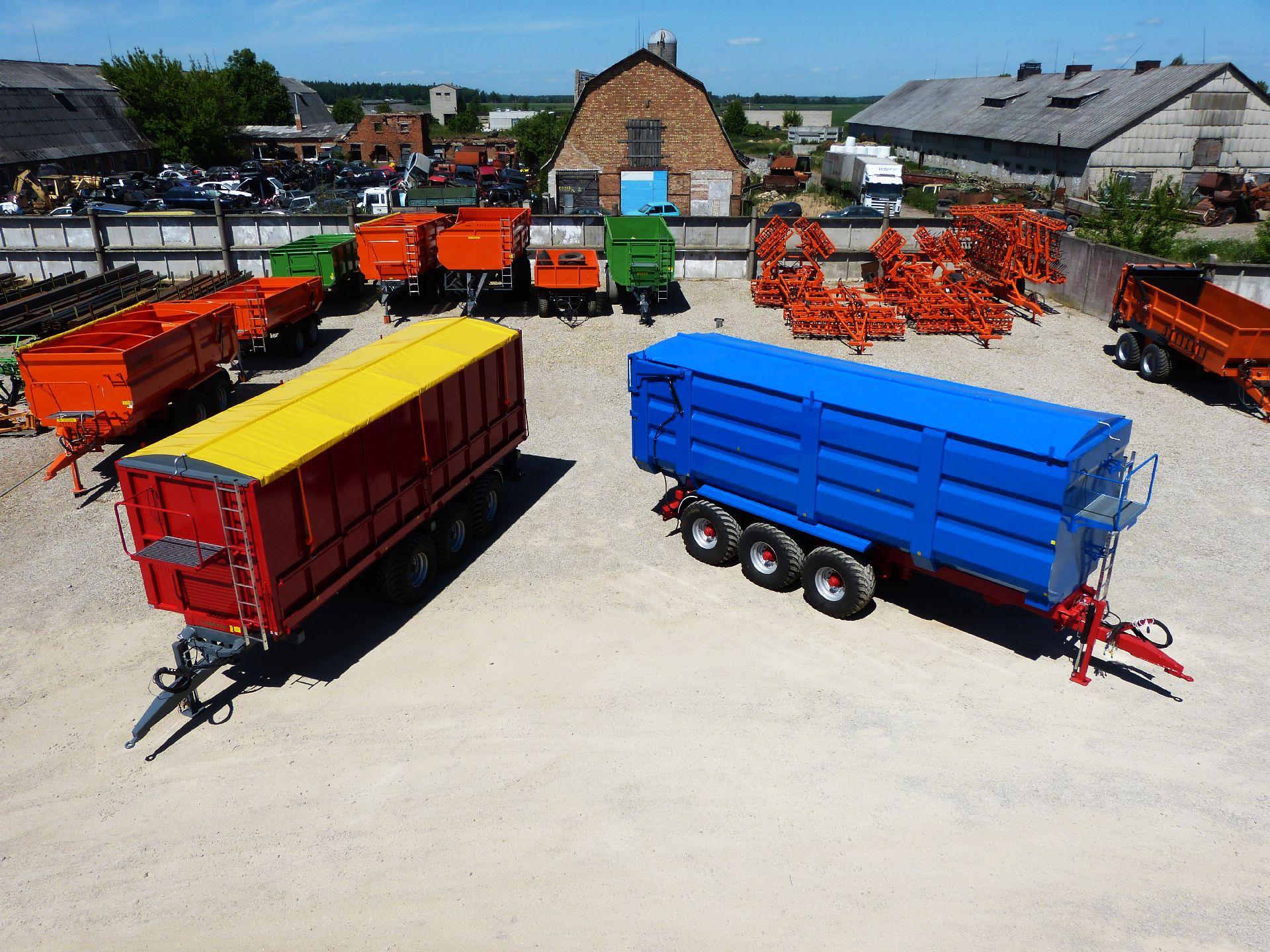 Universali traktorinė puspriekabė PTL-30F, Laumetris
